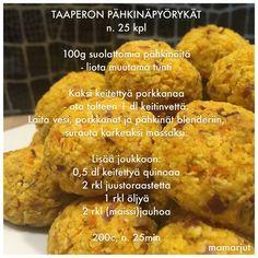 Taaperon pähkinäpyörykät Avocado Salat, Baby Food Recipes, Mashed Potatoes, Cauliflower, Muffin, Vegetables, Breakfast, Ethnic Recipes, Muffins