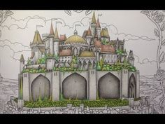 MAGICAL JUNGLE   Adult Coloring Book by Johanna Basford   Coloring With Colored Pencils - YouTube