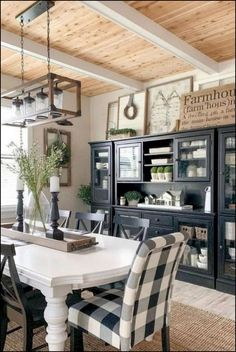 Best farmhouse dining room decoration ideas - locate some of our favored suggest. Best farmhouse dining room decoration ideas - locate some of our favored suggestion and find out just how to develop your very own modern farmhouse dining room. Sweet Home, Dining Room Design, Dining Decor, White Dining Room Table, Black And White Dining Room, Black White, White Dining Room Furniture, White Light, Living Spaces Furniture