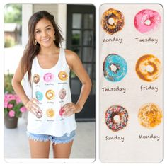 NWT Donuts Everyday Tank Top NWT Donut Graphic Tank Top in Ivory. How cute is this tank, seriously. A conversation starter, a statement piece, or a fun-loving vibe! Fabric is a soft Rayon/Spandex blend. Available in Medium (6-8), Large (10-12), fits true to size with a loose fit. No Trades and No Paypal⭐️PLEASE DO NOT BUY THIS LISTING, COMMENT WHEN READY TO BUY AND I WILL MAKE A NEW LISTING FOR PURCHASE⭐️Sold out of smalls Tops Tank Tops