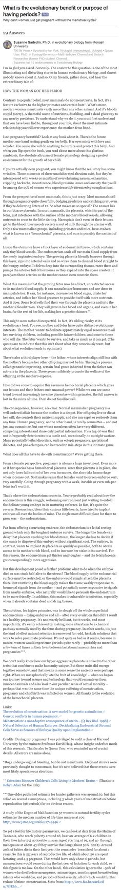 One-image reupload of why humans menstruate <-- this makes me genuinely uncomfortable and should be considered in the abortion debate The More You Know, Good To Know, Things To Know, Things To Think About, A Silent Voice, E Mc2, One Image, Read Later, Patriarchy