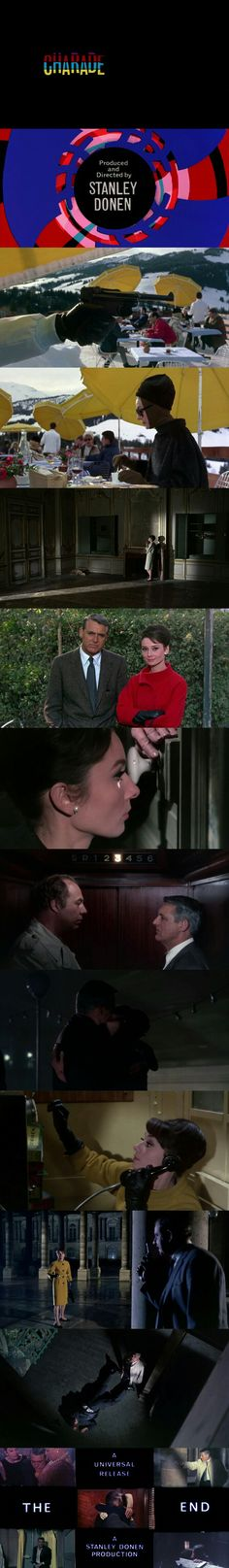 Charade (1963) Directed by Stanley Donen. Starring Cary Grant and Audrey Hepburn.