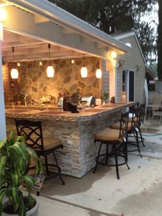 Outdoor Kitchen - Bar & Patio Cover - Rate My Space