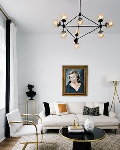Havenly Home Tour | TheNest.com (Spotted here: the Interior Define Maxwell sofa)