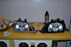 DIY black headlights Civic EG