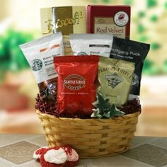 Coffee and Cookies Variety Basket from All About Gifts and Baskets $54