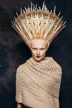 """Frugal always liked the expression, """"A bird in the hand"""" and took this opportunity to wear her basket-weave hairdo to the World Bird Photo Contest. #Modellife"""
