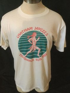 Vintage 1980's Running T-Shirt  Native American 50/50 Large Made in USA Indian by 413productions on Etsy