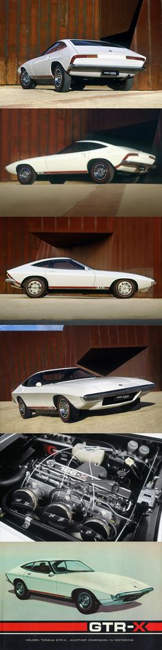 concept cars 1970 Holden GTR-X / concept / Australia / white red Weird Cars, Cool Cars, Alpha Romeo, Automobile, Australian Cars, Roadster, Futuristic Cars, Unique Cars, Sport Cars