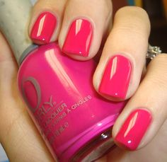 Chloe's Nails: Orly Purple Crush-Actually a hot almost neon pink - not purple lol