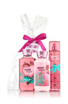 Velvet Sugar The All New Daily Trio Gift Set - Signature Collection - Bath & Body Works Bath N Body Works, Bath And Body Works Perfume, Best Body Wash, Fragrance Lotion, Free Stuff By Mail, Avon, Body Lotions, Body Spray, Body Care