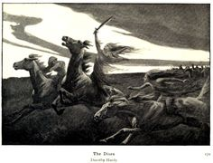 """Dorothy Hardy (fl. 1891-1925), 'The Dises', from """"Myths of the Norsemen from the Eddas and Sagas"""" by Hélène Adeline Guerber, 1909 Source: https://archive.org/details/mythsofthenorsem00gueruoft"""