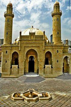 Stunning Views: Mosques Taza Pir in Baku Azerbaijan