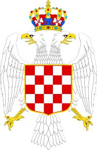 Greater coat of arms of the Banate of Croatia House Of Savoy, Alphabet Symbols, Axis Powers, Coat Of Arms, Military History, World War Ii, Croatia, Herb, Wikimedia Commons