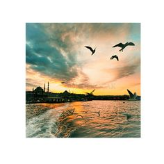 Landscape Photograph, istanbul photography, Sunset photography, Fine art photography, colour, istanbul, Art Photography, 8''x 8''inch. $30.00, via Etsy.