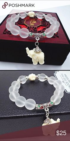 3 for $20 Elephant Chrystal Bead Vtg Bracelet Beautiful vintage elephant bracelet made with crystal beads. Very unique design. If you like this cutie, I consider most reasonable offers but if you like other listings, you are in luck because this is part of my 3 for $20 sale. Just choose two more listings of the same sale and get more for your money. Fast 2-business day shipping. Jewelry Bracelets Crystal Beads, Crystals, Vintage Elephant, Elephant Bracelet, Money Fast, Bracelet Making, Fashion Tips, Fashion Design, Fashion Trends