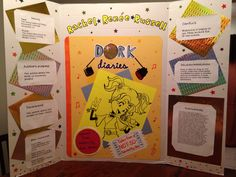 My 5th graders book Report project on the Dork Diaries, Tales from a not so talented Pop Star