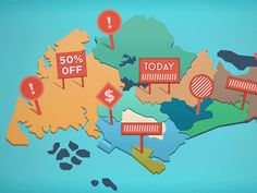 Animated Singapore Map by Jowin for 2359 Media