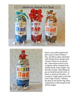 Father's Day is only 2 weeks away. Here's something Super Simple for the kids to make for DAD (with a little help from mom) Lots of options and possibilities!