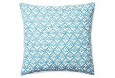 Pismo 20x20 Cotton Pillow, Light Blue on OneKingsLane.com