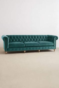 Obsessed with this couch!!! Velvet Grand Lyre Chesterfield Sofa, Wilcox - anthropologie.com