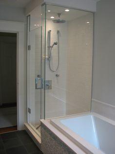 glass shower enclosure House, Glass Shower, Enclosure, Bathroom, Glass Shower Enclosures, Glass, Bathtub