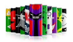 VILLAIN (Energy Drink) by Mike Karolos, via Behance