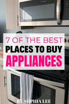 I never thought about having to buy appliances and I am moving into a new house soon and I have to fully replace all of them!! I needed this! Thank you Sophia!! First Apartment Checklist, First Apartment Essentials, Apartment Hacks, Apartment Kitchen, Apartment Living, Moving House Tips, Moving Tips, Moving Hacks, Buy Appliances