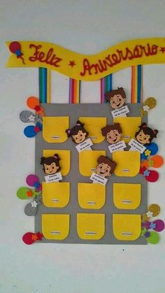 55 Wonderful Christmas Centers For Kindergarten Birthday Chart Classroom, Birthday Charts, Classroom Board, School Bulletin Boards, Classroom Decor, Class Decoration, School Decorations, Attendance Chart, Birthday Board