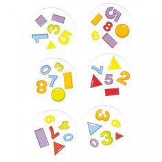 Dobble chiffres et formes Hoptoys
