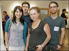 Left to right Emily Rippe, Matt Desmond, Crystal Bowersox, and Isaac Klunk during the Undisclosed event at the Toledo School for the Arts.  (Toledo Blade, June 2013)