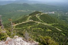 Vue des pistes, Jay Peak, Vermont, USA, Juin 2016 Jay Peak, Vermont, Usa