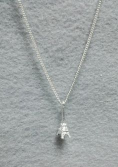 Dainty Silver 'Eiffel Tower' Charm Necklace by OneSEC on Etsy, $9.00