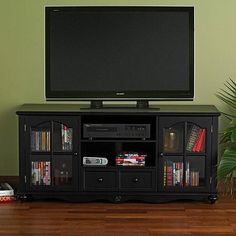 """Palisade Antique Black TV Stand, for TVs up to 50"""""""