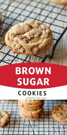 Thin and chewy brown sugar cookies! Each cookie has a generous amount of cinnamon taste and loads of cinnamon chips! Brown Sugar Cookie Recipe, Brown Sugar Cookies, Cinnamon Cookies, Cinnamon Chips, Sugar Cookies Recipe, Homemade Chocolate Sauce, Homemade Oreos, Homemade Cookies, Chocolate Recipes