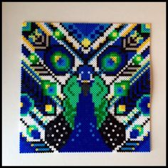 Peacock hama perler project by Helena Engelbrecht (Made by Me)