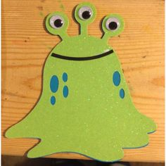Monster (3 eyed blob) Invitation Birthday Card or Announcement, Pack of 10. $20.00, via Etsy.