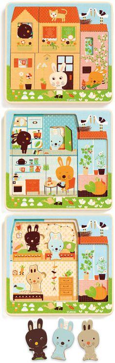 Puzzle Chez Carot Djeco chez Bianca and Family