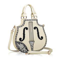 Chegada nova rocha estilo mulheres bolsa guitarra elétrica saco de mulher bolsas moda 2014 os Designers da marca bolsa de couro para senhora em Bolsas de Ombro de Mochilas & bagagem no AliExpress.com | Alibaba Group