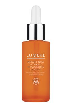 Lumene Vitamin C Hyaluronic Essence can be used as a brightening boost underneath day or night cream.