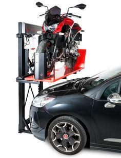 #GarageLift, el elevador de motos que soluciona los problemas de espacio en el #garaje #motor