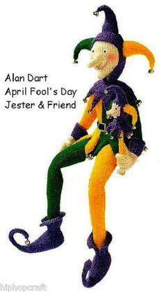Alan Dart Toy Knitting Pattern April Fool Jester
