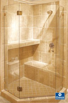 Fameless Neo Angle shower features headerless design with glass to glass hinge and wall clip system. Cozy Bathroom, Small Bathroom, Bathrooms Decor, Modern Bathrooms, Master Bathroom, Bathroom Ideas, Shower Ideas, Neo Angle Shower Doors, Primitive Bathrooms