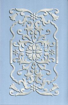 Stencils | Fleur Classic Panel Stencil | Royal Design Studio