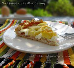 TORTA SALATA CON ASPARAGI E UOVA Pie, Desserts, Torte, Tailgate Desserts, Cake, Deserts, Fruit Cakes, Pies, Postres