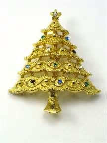 Vintage JJ Christmas Tree PIn Brooch from ...