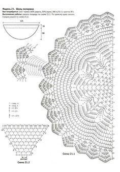 Ruimte lila: Patronen for the gehaakte Sjaals meth ring Start / Sjaals Haakpatronen meth ring magische start