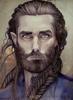 Father Durin -- Love this envisioning of Durin -- and it's easy to see Thorin as his descendent!