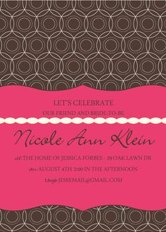 Nicole Invite by stampedsilly on Etsy, $10.00