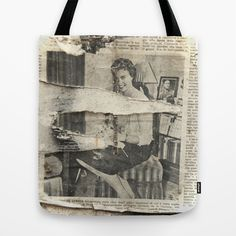 Yesterday Tote Bag by Victoria Herrera - $22.00